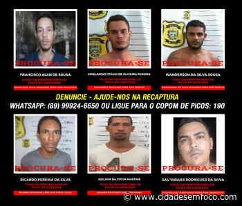 Polícia divulga imagens de detentos ainda foragidos da Penitenciária de Picos - Cidades em Foco
