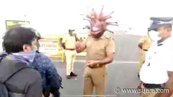 Warga Bebal, Polisi di Chennai India Cosplay Jadi Virus Corona - Suara.com
