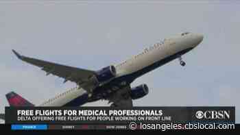 Delta Offering Medical Workers Free Flights - CBS Los Angeles