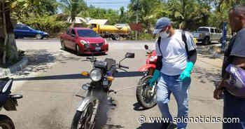 Nacionales 2020-03-20 Desinfectan vehículos que entran a Concepción Batres, Usulután - Solo Noticias El Salvador