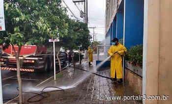 Pindamonhangaba inicia higienização das ruas com apoio da Sabesp - PortalR3