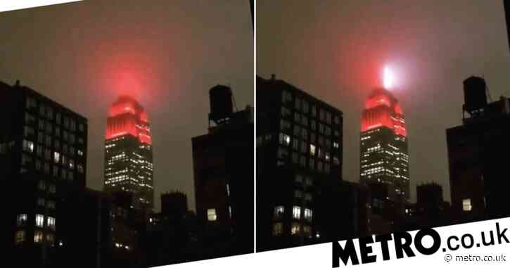Empire State Building turned into eerie flashing emergency beacon as coronavirus grips NYC