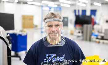 Inside Ford factory making 100,000 face shields each week to help fight coronavirus