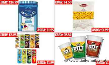 eBay users inflating prices of supermarket flour, Dairy Milk and Pot Noodles in coronavirus crisis