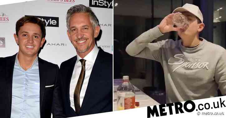 Gary Lineker's son George downs glass of vinegar to show he can't taste amid 'coronavirus' symptoms