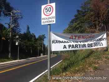 Radares de velocidade começam a funcionar na João Edueta - Jornal de Vinhedo