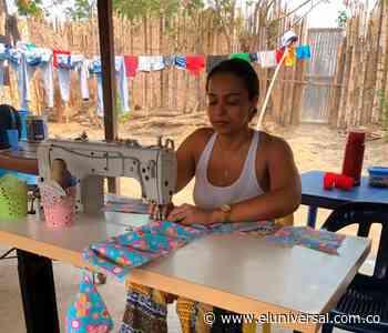 Mujeres de San Jacinto del Cauca hacen tapabocas para donarlos - El Universal - Colombia