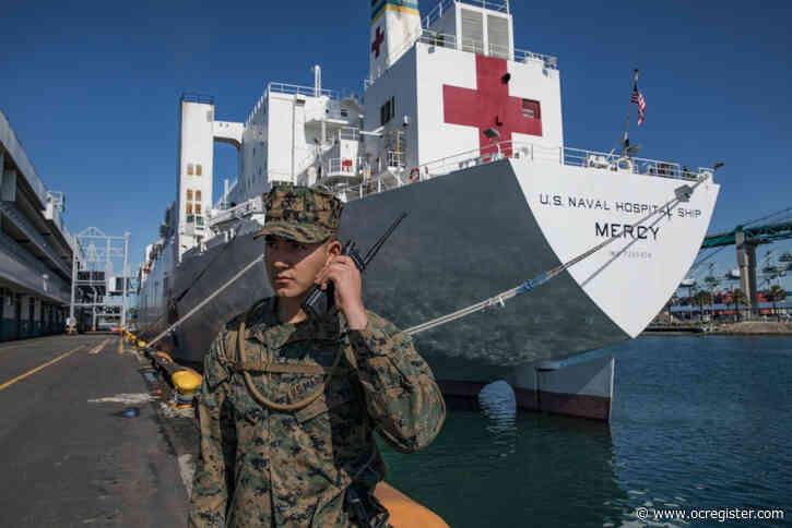 Navy secretary visits hospital ship Mercy in Port of Los Angeles