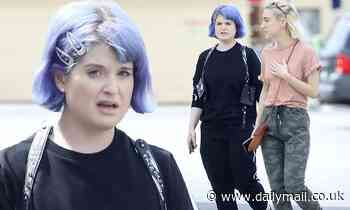 Kelly Osbourne doesn't abide by social distancing guidelines as she visits her brother Jack