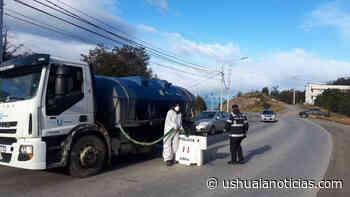Nuevos puntos de desinfección en espacios públicos en la ciudad de Ushuaia - Ushuaia Noticias