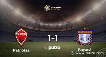Patriotas Boyacá y Boyacá Chicó FC consiguen un punto después de empatar a uno - Pulzo