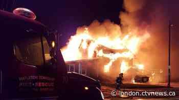 Fire destroys restaurant east of Listowel - CTV News London