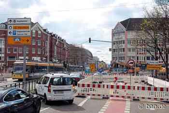 Kein Durchkommen für Autofahrer am Karlstor in Karlsruhe Stadtumbau Karlsruhe - BNN - Badische Neueste Nachrichten