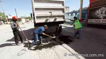 #Juarez |Continúa el Programa Emergente de Bacheo reparando calles de la ciudad - Adriana Ruiz