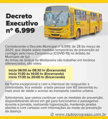 Medianeira Transportes segue com circulação em horários reduzidos - Rádio Progresso de Ijuí