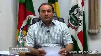 Vídeo | Prefeito de Nova Prata Volnei Minozzo explica resumidamente novo decreto que será publicado amanhã dia 2 | Rádio Studio 87.7 FM - Rádio Studio 87.7 FM