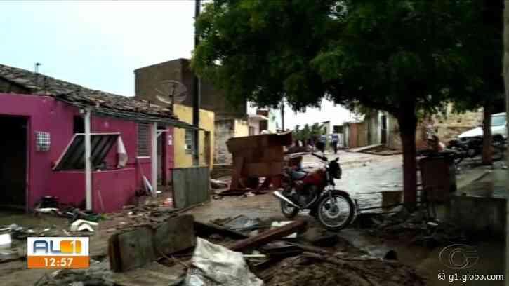 Enchente deixa rastro de destruição em Santana do Ipanema, AL - G1
