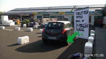 Nach Corona-Hamsterkäufen: Drive-In-Schalter für Toilettenpapier in Dornburg eröffnet - RTL Online