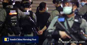 Police arrest 54 at Hong Kong protest, but none over social-distancing rules - South China Morning Post