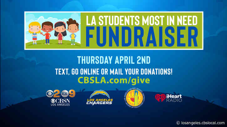 CBSLA Partners With iHeart Radio, LA Chargers And LAUSD For 'LA Students Most In Need' Fundraiser