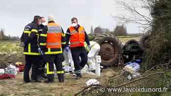 Laventie : le tracteur se retourne et écrase son conducteur, blessé grièvement - La Voix du Nord