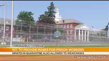 NYS prison guards, inmates to receive masks