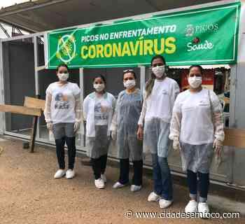 Profissionais da saúde realizam ações de prevenção a COVID- 19 em Picos - Cidades em Foco