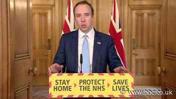 Coronavirus: Matt Hancock sets aim of 100,000 tests a day by end of April - BBC News