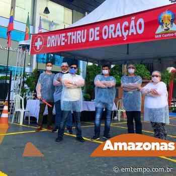 """Igreja em Manaus realiza """"drive-thru"""" da oração - EM TEMPO"""