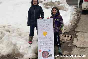 Baie Verte sisters make a thank you card for essential workers - The Telegram