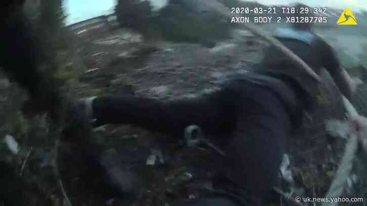 English Police Hoist Man From Quarry With Their Tied-Together Belts