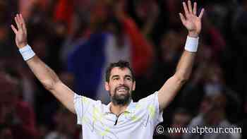 France's Jeremy Chardy beats Daniil Medvedev at the Rolex Paris Masters - ATP Tour