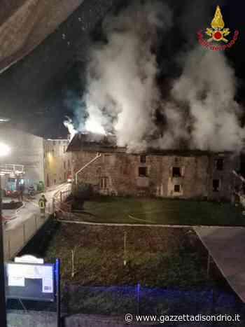 Incendio a Lovero - La Gazzetta di Sondrio