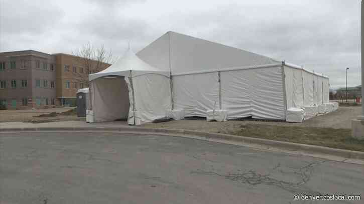 Coronavirus In Colorado: UCHealth Hospitals Set Up Triage Tents To Prepare For Influx Of Patients