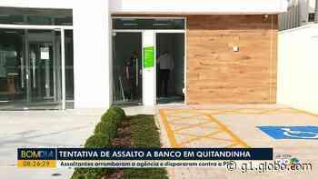 Suspeitos armados tentam roubar agência bancária na Região de Curitiba e atiram contra unidade da PM - G1