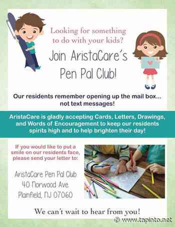 Plainfield, Join the AristaCare at Norwood Terrace Pen Pal Club - TAPinto.net