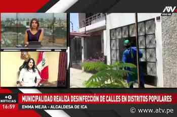 Alcaldesa de Ica responde sobre reparto de canastas en estado de emergencia - ATV.pe