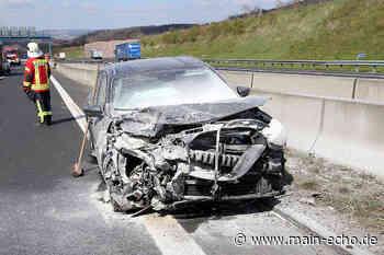 Unfall auf der A3 bei Waldaschaff: Ford fängt Feuer - Main-Echo