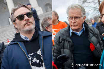 Joaquin Phoenix, Martin Sheen arrested at Jane Fonda climate change protest - Gruntstuff