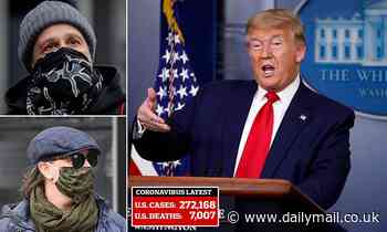 Trump announces the CDC is telling EVERYBODY to wear masks 'voluntarily' - but he won't wear one
