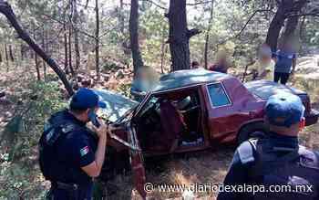 Joven quedó prensado en auto tras accidente en Acajete - Diario de Xalapa