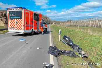 Tecklenburg: Motorradfahrer schwer verletzt - Münsterland - Allgemeine Zeitung