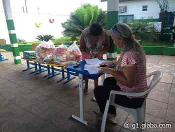 Coronavírus: Ariquemes distribui cestas básicas para famílias de alunos da rede municipal - G1