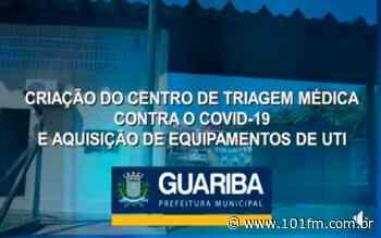 Prefeitura de Guariba cria centro de triagem ao COVID-19 - Rádio 101FM