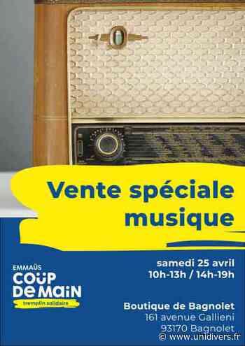 Vente spéciale musique Emmaüs Coup de main Emmaüs Coup de main 25 avril 2020 - Unidivers