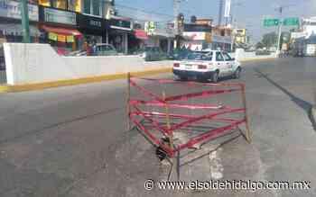 Se registran hundimientos en transitada avenida de Tula - El Sol de Hidalgo