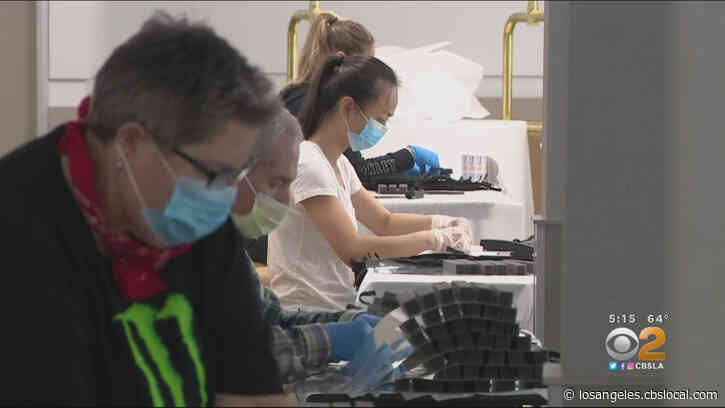 Volunteers In Anaheim Make Face Masks For Health Care Workers