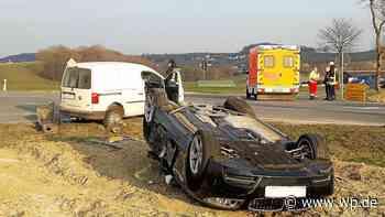 Brilon: Auto überschlägt sich nach Unfall – Frau verletzt - Westfalenpost