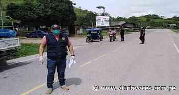 Fiscales de Uchiza inspeccionaron ingreso de vehículos por la frontera San Martín - Huánuco - Diario Voces