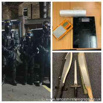 Machetes, knives and drug supply equipment found in Nelson house - Lancashire Telegraph